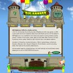 bouncy castle website design