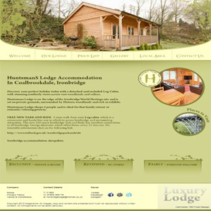 ironbridge lodge website design telford